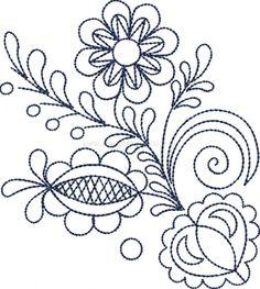 Výšivka Vajnory, obrys, 12x10 cm