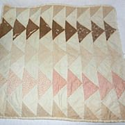 Early 1900's Completely Handmade Doll Quilt