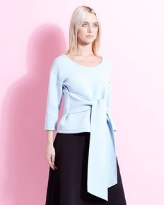 70a197fc9ee baby-blue Lennon Courtney at Dunnes Stores Evie Top Evie