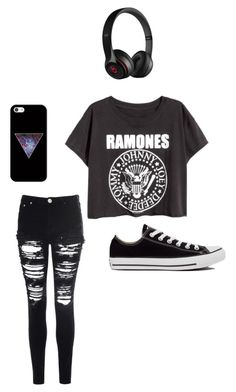 """Untitled #224"" by fearless-dreamer09 ❤ liked on Polyvore featuring Converse, Glamorous, Beats by Dr. Dre and Casetify"
