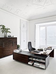 L-shaped sectional executive desk REPORT by Sinetica Industries