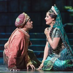 "Philippe Talbot  and Sydney Mancasola in Bizet's ""The Pearl Fishers"" at Florida Grand Opera. Photo: Rodd MIllington"