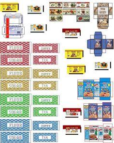 mini printable: kitchen canister labels | printies: mini kitchen | Pi ...