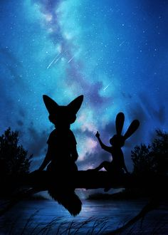 Art of the Day Under the Moon and Stars – Zootopia News Network Zootopia Anime, Zootopia Comic, Nick Wilde, Nick Y Judy, Disney Zootropolis, Disney Movies, Zootopia Nick And Judy, Judy Hopps, Film D'animation