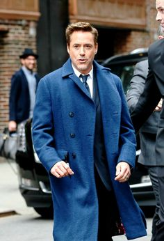 RDJ in NYC for Letterman, April 23, 2015