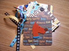 Dog Premade Mini Scrapbook Album Dog Mini Album by HampshireRose, $30.00
