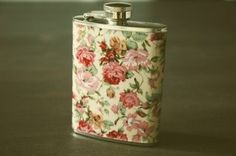 bottle, candy colors, floral, flowers, pastel, pink, vintage
