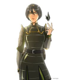 I like this image, but she shouldn't be looking at the audience....  This is Toph, right?