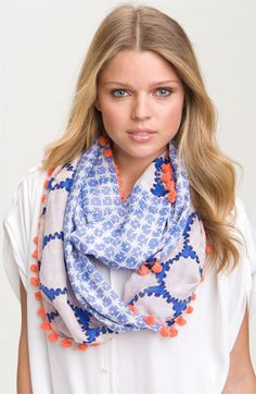 Diane Von Furstenberg - Printed silk and cotton-blend circle scarf.