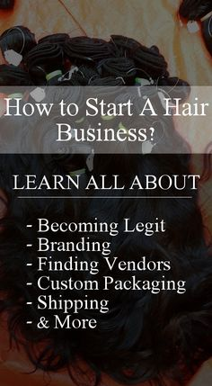 Looking to start a hair business? Learn everything from getting legit branding shipping custom packaging and finding vendors.Become an entrepreneur. - August 11 2019 at Online Hair Store, Hair Colorful, Successful Business Tips, Business Inspiration, Business Ideas, Business Goals, Salon Business, Hair Stores, Hair Boutique