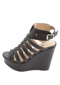 strappy platform gladiator wedge sandals