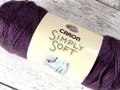 #Caron Simply Soft #Yarn purple plum acrylic 315 yds 6 oz medium weight NEW #knitting #crochet #craftsupplies http://stores.ebay.com/moomettesmagnificents