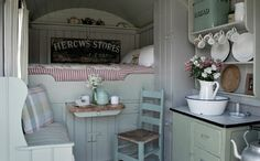 Wriggly Tin's shepherd hut vintage campsite - would want to take home a shepherd's hut as well!