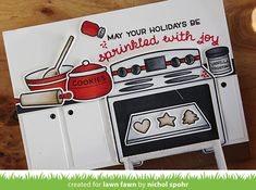 Lawn Fawn | Sprinkled With Joy Interactive Oven Card