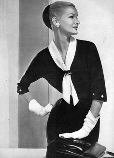 Sunny Harnett - December 1955 - Vogue - #fashion #vintage #style #beauty Photo Horst P. Horst (German-American, 1906-1999) - @~ Mlle