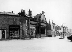 Junction of Chorley Road and Station Road in Swinton with Yates Chemist on the corner. Demolished to make way for the Lancastrain Hall in Make Way, Salford, Local History, Old Pictures, Vintage Photos, Manchester, Places To Visit, Street View, Chemist