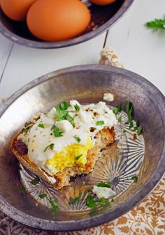 Open Faced Mediterranean Egg Sandwich - So easy and delicious, perfect for brunch!