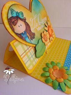 Delfina scrapbook y mas Blog sobre manualidades, papercrafts, cardmaking y scrapbooking Foam Crafts, Diy And Crafts, Paper Crafts, Easel Cards, 3d Cards, Paper Envelopes, Creative Cards, Cardmaking, Origami