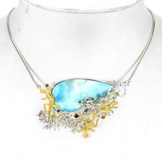 NATURAL-50x27mm-BLUE-LARIMAR-BLUE-SAPPHIRE-STERLING-925-SILVER-NECKLACE-22-INCH