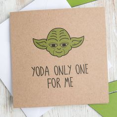 yoda only one for me' star wars greetings card by dust and things ...