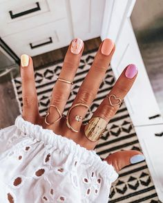 What manicure for what kind of nails? - My Nails Gradient Nails, Acrylic Nails, Galaxy Nails, Diy Nails, Cute Nails, Speing Nails, Nagel Tattoo, Party Nails, Manicure Y Pedicure