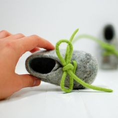 Felted Wool Baby Booties