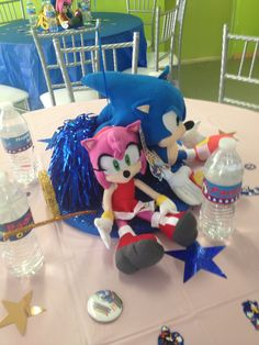 Sonic Centerpieces Sonic Party, Hedgehog Birthday, Drink Menu, Holidays And Events, Best Part Of Me, Sonic The Hedgehog, Create Your Own, Birthday Parties, Bridal Shower