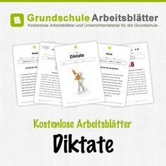 Kostenlose Arbeitsblätter und Unterrichtsmaterial für den Deutsch-Unterricht zum Thema Diktate in der Grundschule.