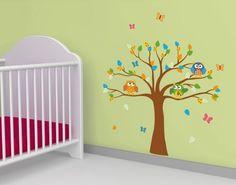 Inspirational ufengke Gr nen Baum Niedlichen Affen Giraffe V gel Messlatten Wandsticker Kinderzimmer Babyzimmer Entfernbare Wandtattoos Wandbilder Pinterest Room