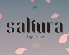 Sakura Free Font #freefonts #fontsfordesigners #typefaces #typography