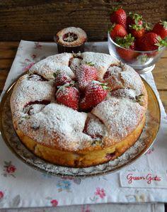 torta soffice senza glutine senza lattosio #fragole #senzaglutine #senzalattosio