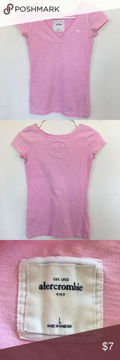 Abercrombie Kids T-shirts.  Girl's size (L). Abercrombie Kids T-shirts.  Girl's size (L). Pink short sleeved T- shirt. Great condition. Abercombie Kids Shirts & Tops Tees - Short Sleeve