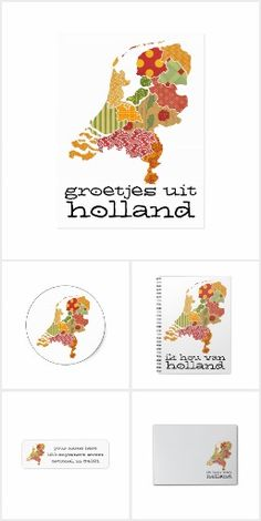 #Holland Map Bohemian Patchwork Style Provinces | I Love Holland / Groetjes Uit Holland  by @DutchInside on @Zazzle