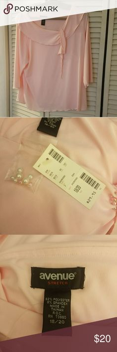 Avenue pink blouse This blouse is brand new. It is very pretty and soft. It come with extra pearls. It can be dressed up or down Avenue Tops Blouses