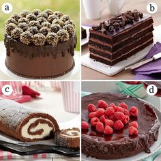 Today is one of our favorite days...Happy National Chocolate Cake Day! Which one's your favorite cake?  A. Truffle-Topped Cake B. Dark Chocolate Orange Cake C. Chocolate Ice Cream Roll Cake D. Flourless Chocolate Ganache Cake  Link in bio for the recipes! #wiltoncakes #nationalchocolatecakeday #chocolatecakeday #chocolatecake #cakedecorating #lovetobake