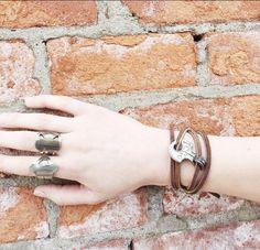 Brick || Brown Leather || Silver || Accessorize || JoJo Wrap