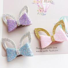 $1.9 - 1Pair Cat Ear Bowknot Hairpin Headdress Hairclip Hair Dress Gift For Baby Girl #ebay #Fashion