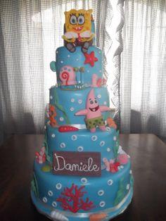 Spongebob  Cake by Lillascakes