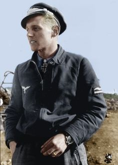 Luftwaffe ace Major Erich Hartmann - pin by Paolo Marzioli Luftwaffe, German Soldiers Ww2, German Army, Erich Hartmann, Fighter Pilot, Military History, Ww2 History, Military Aircraft, World War Two