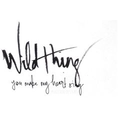 'Wild thing….. You make my heart sing' ♡ @okiedokedesigns info.okiedoke@gmail.com Instagram: okiedokedesigns #handwritten #quote #wildthing #thetroggs #music #happiness #love #happy #love #typography #pen #ink #paper #font #writing
