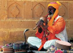 Colours of India - snake charmer, rajasthan, india