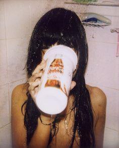 Shower // Wet Hair // Coca Cola // Vintage // Retro // Photography