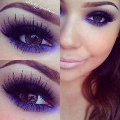 purple/blue/black smokey eye