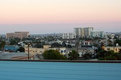rooftop view from Hotel Erwin, Los Angeles, California