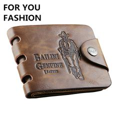 Hot Sale fashion men wallets 8 Patterns Optional quality hasp casual brown credit card holders purse wallet men free shipping