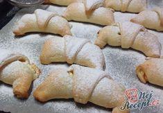 Plněné rohlíčky | NejRecept.cz Czech Recipes, Cake Art, Food Art, Hamburger, Muffin, Bread, Cookies, Chicken, Baking