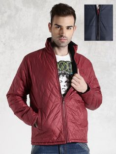 Winter Wear For Men, Quilted Jacket, Bomber Jacket, Winter Jackets, Navy, How To Wear, Top, Fashion, Winter Coats