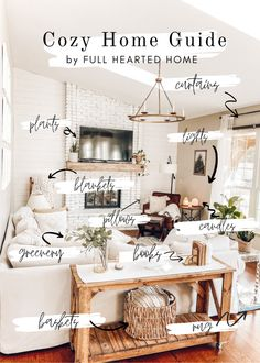 How to create a cozy home // A list of 10 simple things that will add coziness and warmth to any space! Cozy Living Rooms, Home Living Room, Living Room Designs, Living Room Decor, Small Space Living Room, Boho Apartment, Design Apartment, Inviting Home, Hygge Home