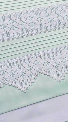 How to Crochet Wave Fan Edging Border Stitch - Crochet Ideas Crochet Bedspread Pattern, Crochet Lace Edging, Crochet Motifs, Crochet Borders, Crochet Patterns, Quick Crochet, Learn To Crochet, Hand Crochet, Knit Crochet