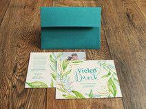 """Dankeskarte """"Blumenreigen"""" – inkl. Briefumschlag"""